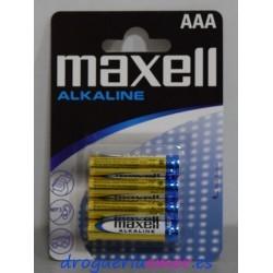 MAXELL Pilas Alcalinas AAA (4 unidades)