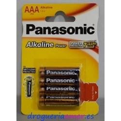 PANASONIC Pilas Alcalinas AAA (4 unidades)