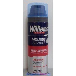 WILLIAMS Espuma Piel Sensible 200ml