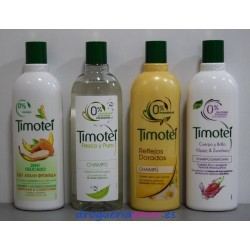 TIMOTEI 0% Parabenos Champu 400ml (4Tipos)