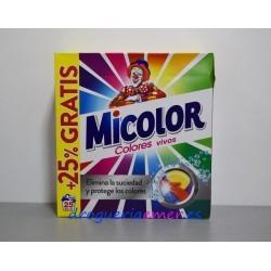 MICOLOR Colores Vivos Detergente en polvo 25 Cacitos