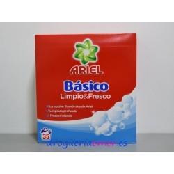 ARIEL BASICO Detergente en polvo 35 Cacitos