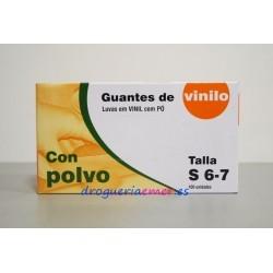 CUATROGASA Guantes Vinilo Caja 100 unidades (3 Tallas)