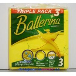 BALLERINA Bayeta Amarilla (3 unidades)