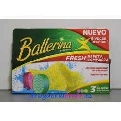 BALLERINA Bayeta Fresh Compacta 50X35cm (3 unidades)