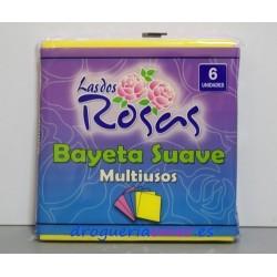 LAS DOS ROSAS Bayeta Suave Multiusos 38X40cm (6 unidades)