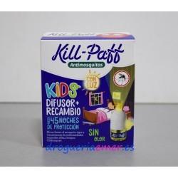 "KILL PAFF Antimosquitos Difusor ""Con luz"" + Recambio 33ml"