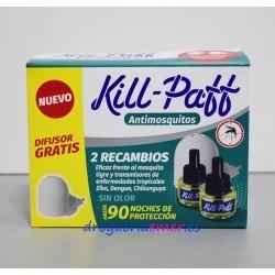 KILL PAFF Antimosquitos Difusor + 2 Recambios 33ml + 33ml
