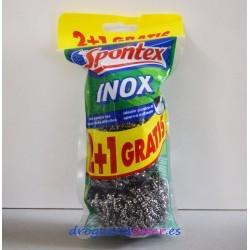 SPONTEX Estropajo Inox (3 Unidades)