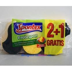 SPONTEX Estropajo Frotaspon Verde (3 Unidades)