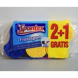SPONTEX Estropajo Frotaspon Azul (3 Unidades)