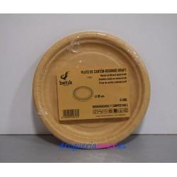 BETIK Platos de Cartón Biodegradables 18cm (6 unidades)
