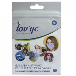 LOV'YC Gamuza antivaho para gafas reutilizable