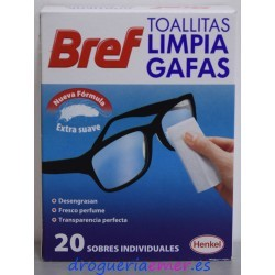 BREF Toallitas Limpia Gafas (20 unidades)