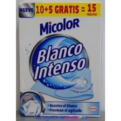 MICOLOR Toallitas Blanco Intenso (15 unidades)