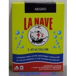 LA NAVE Lavacolor Negro (4 sobres X 20grs)