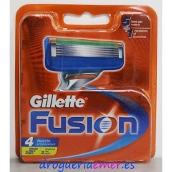 GILLETTE Fusion Recambios 4 unidades