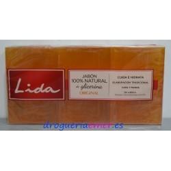 LIDA Jabón Glicerina 3 Pastillas X 125grs