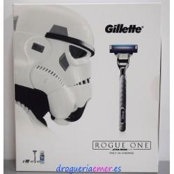 GILLETTE -Mach3 Turbo- Máquina + 3 Cargadores + Espuma (Estuche Star Wars)