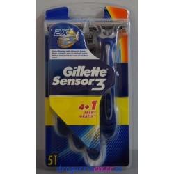 GILLETTE -Sensor3- Desechables 5 unidades