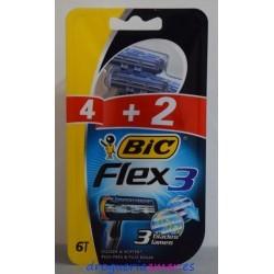 BIC -Flex3- Desechables 3Hojas 6 unidades